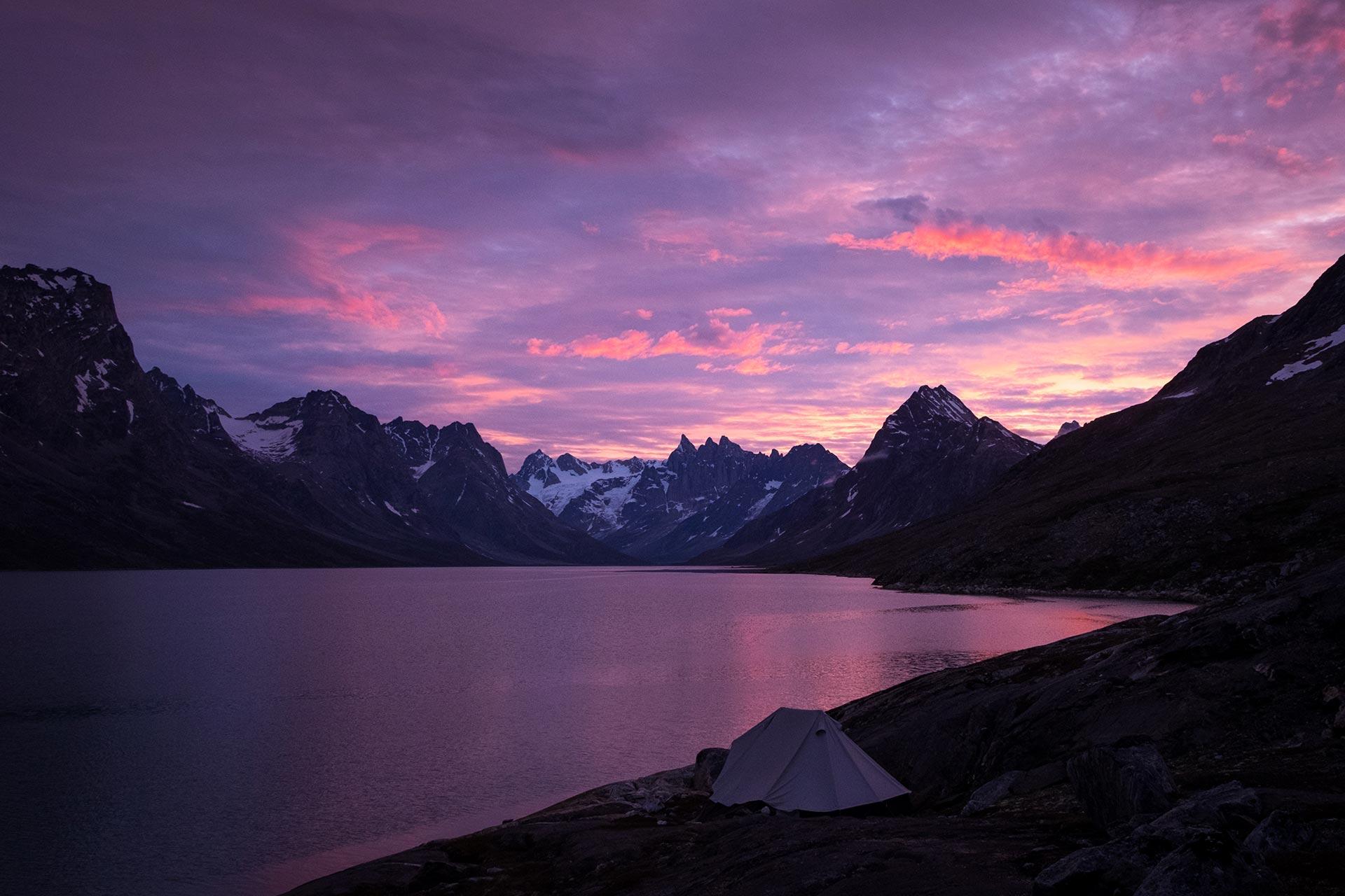 Purple Night in Tasiilaq Fjord