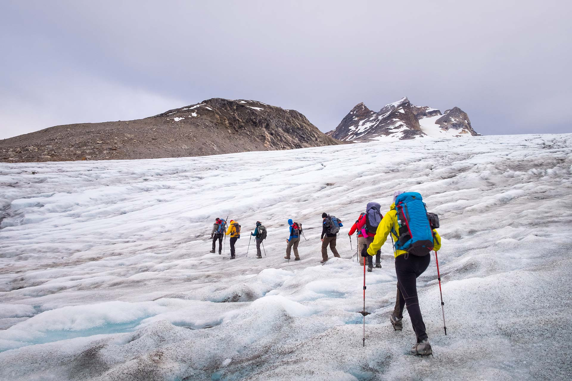 Glacier walks on Crampons