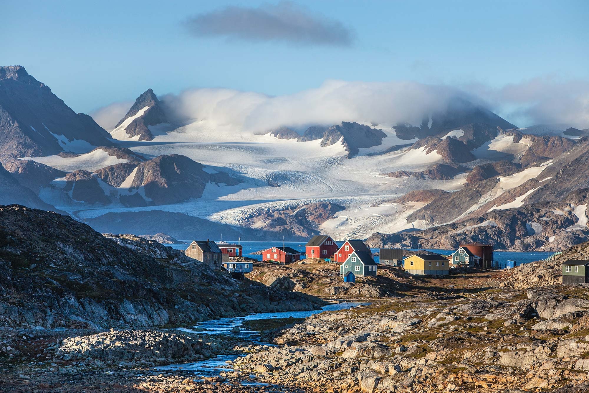 Kulusuk Village and the local glacier