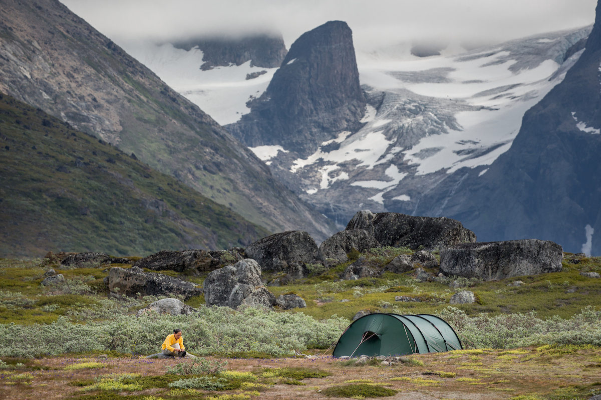 Camping in the Tasermiut Fjord