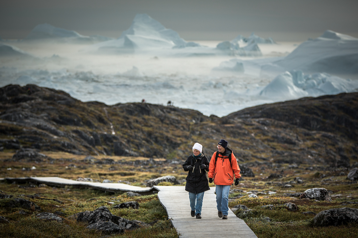 Afternoon hike by the Icefjord