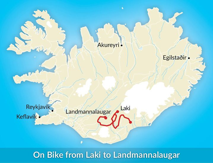 Laki to landmannalaugur mountain biking tour mountainguides