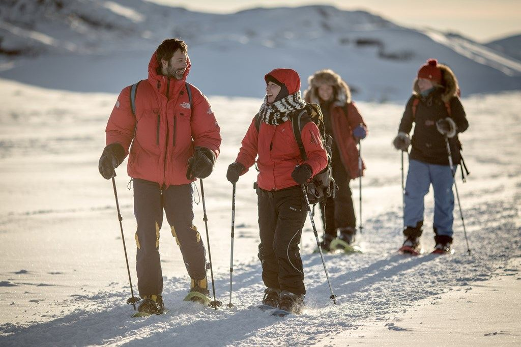 Snowshoeing around Ilulissat