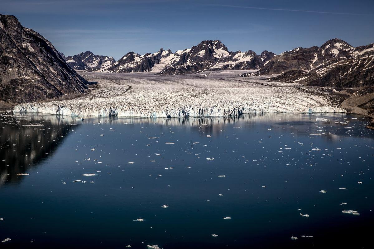The Knud Rasmussen Glacier, East Greenland